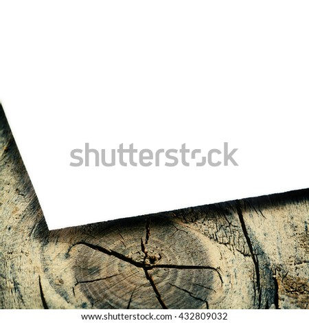 vintage card on the wood backgrounds - stock photo