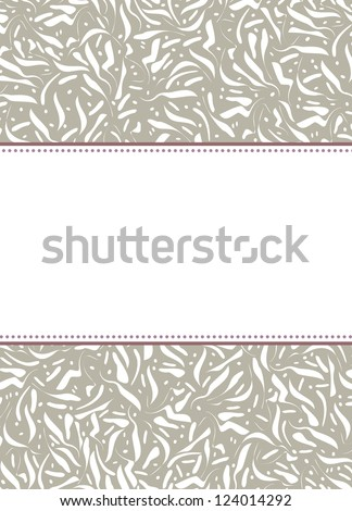 Vintage card. Perfect as invitation or announcement. For vector version, see my portfolio. - stock photo
