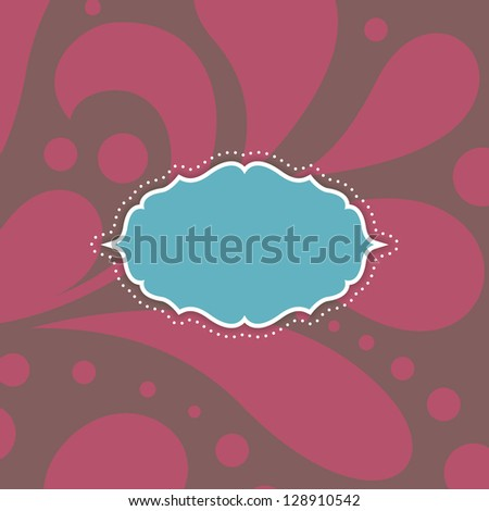 Vintage card with floral ornament design. Perfect as invitation or announcement. For vector version, see my portfolio. - stock photo