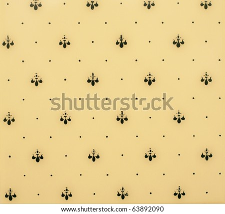 Vintage ceramics wall. Background or texture - stock photo