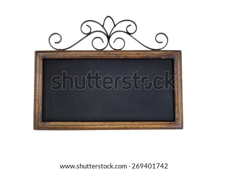 Vintage chalkboard isolated on white. - stock photo