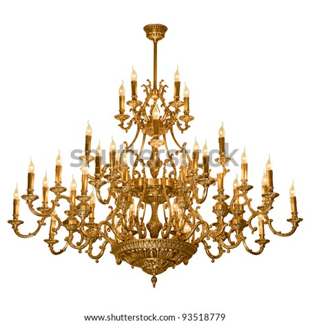 Vintage chandelier isolated on white background stock photo vintage chandelier isolated on white background aloadofball Choice Image