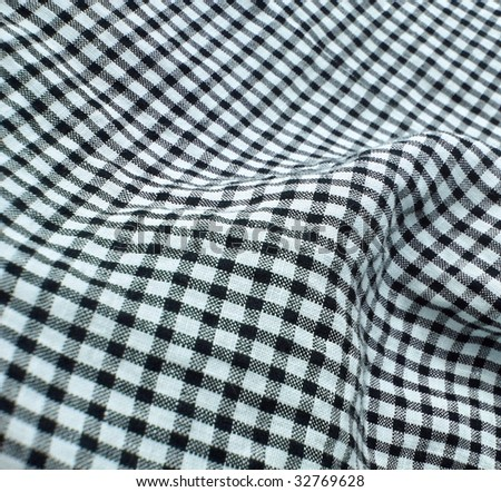 Vintage checkered textile. More of this motif & more textiles in my port. - stock photo