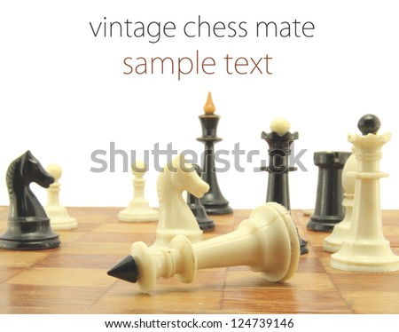 vintage chess mate - stock photo