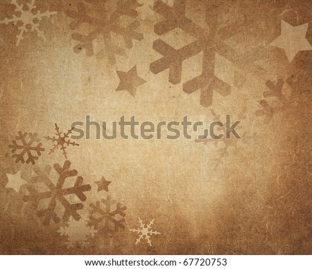 Vintage Christmas background with space for text
