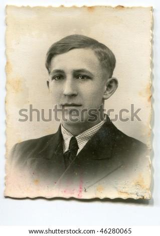 Vintage (circa 1935) man's portrait - stock photo