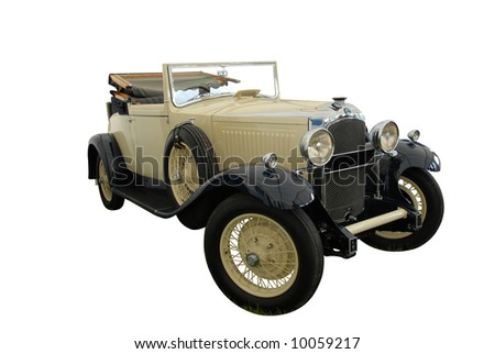 Vintage classic isolated on white - stock photo