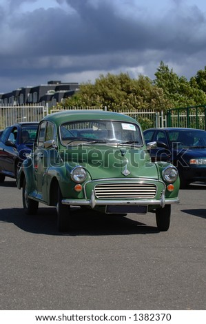 Vintage Classic Morris Minor - stock photo