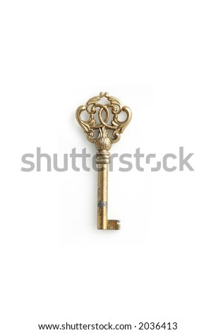 vintage classic old type of cabinet key