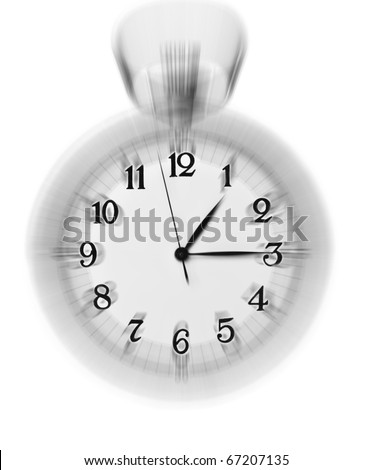 Vintage clock blurred - conceptual image of time running or passing away - - stock photo