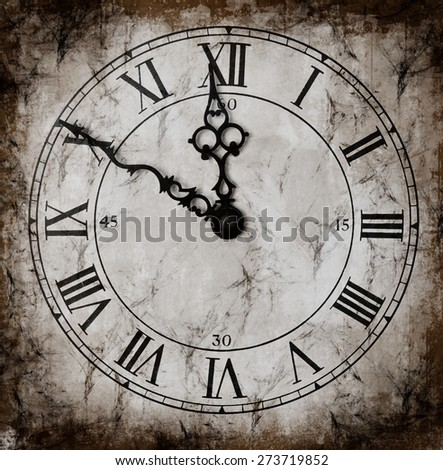 Vintage Clock with texture - stock photo