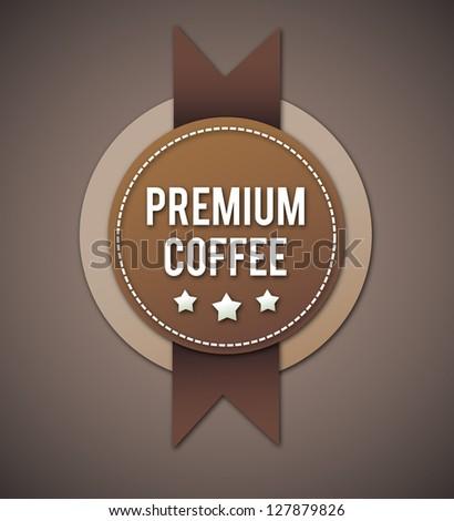 Vintage coffee badge. - stock photo