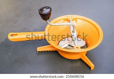 Vintage coffee grinder. - stock photo