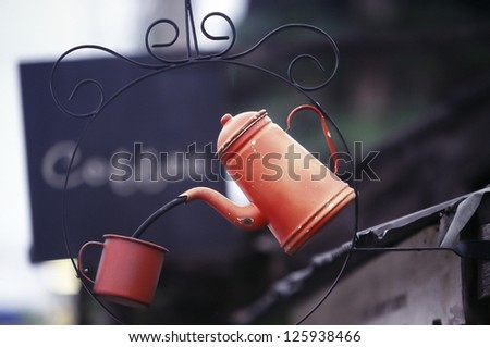 Vintage Coffee kettle - stock photo