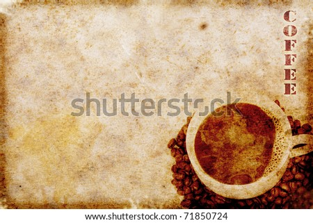 vintage coffee motive - stock photo