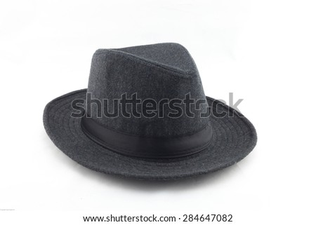 Vintage collage of fashion lady or man hat . - stock photo