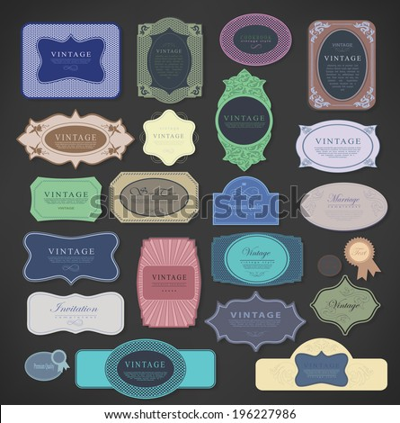 vintage color labels, illustration, Premium Quality, Guarantee