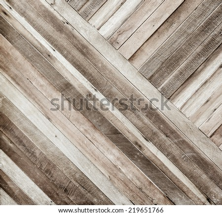 Vintage color of  plank wood texture background,Diagonal alignment wall - stock photo