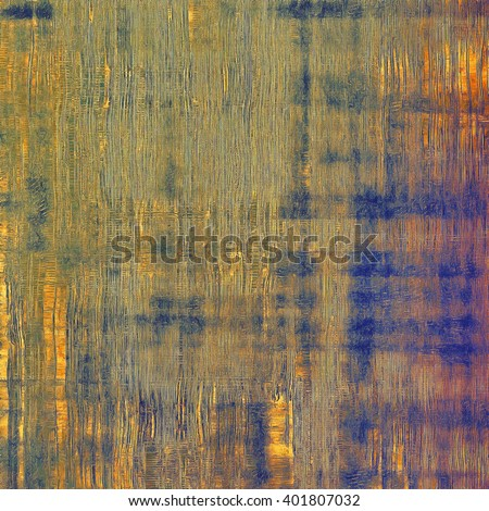Vintage colorful textured background. Backdrop in grunge style with antique design elements and different color patterns: yellow (beige); brown; blue; red (orange); purple (violet) - stock photo