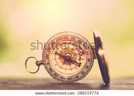 Vintage compass. - stock photo