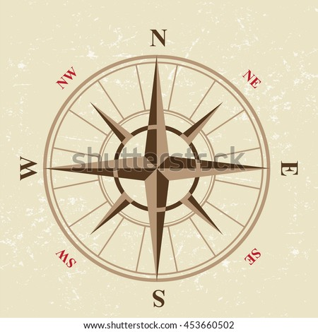 vintage compass icon