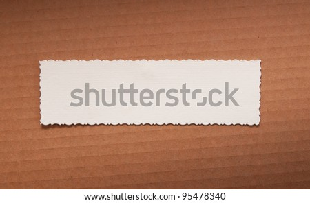 Vintage conceptual old retro aged paper label - stock photo