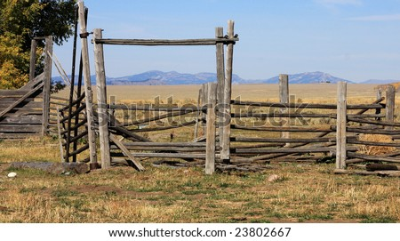 Vintage corral - stock photo