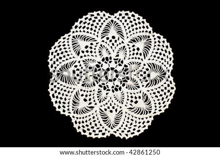 Vintage crocheted doily - stock photo