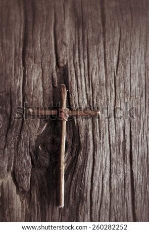 Vintage cross - stock photo