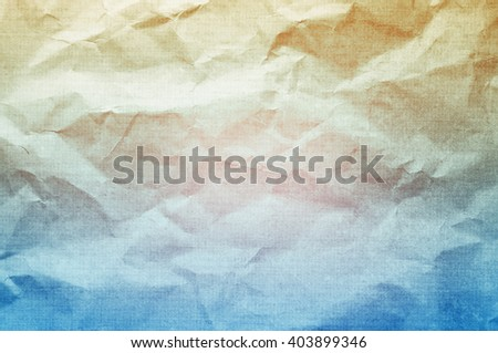 Vintage crumpled paper background.