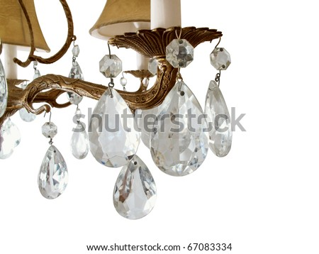 Vintage crystal chandelier - stock photo