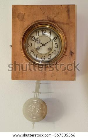 Vintage cuckoo clock - stock photo