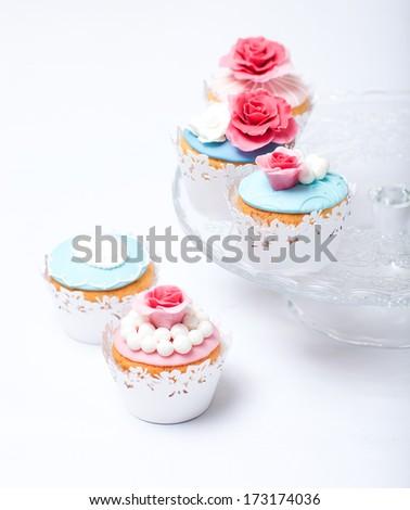 Vintage cupcakes - stock photo