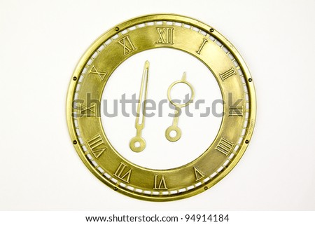 vintage dial  isolated - stock photo