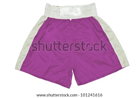 Vintage Dimmed  dark purple color Thai boxing pants with white background