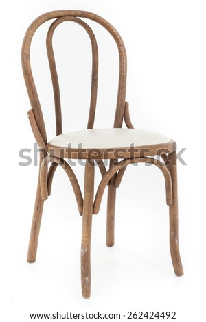 Vintage dirty wooden chair