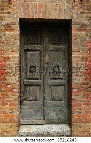 vintage door - stock photo