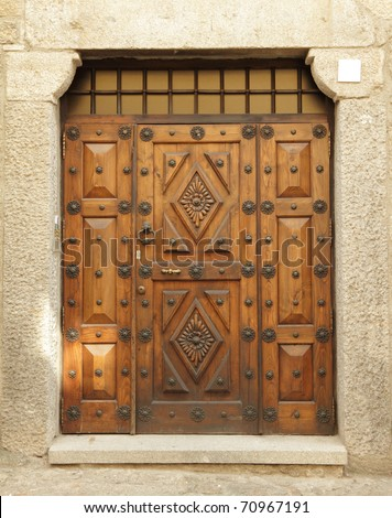 vintage door - stock photo