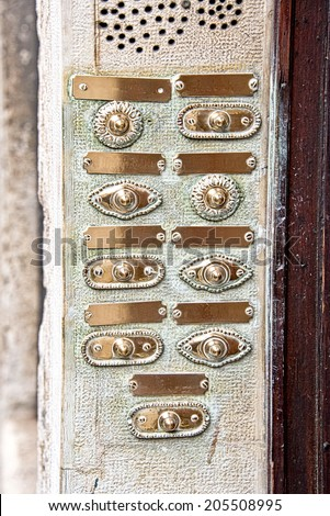 https://thumb9.shutterstock.com/display_pic_with_logo/128821/205508995/stock-photo-vintage-door-bell-buttons-in-a-old-apartment-205508995.jpg
