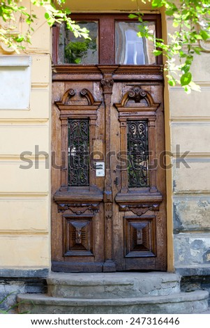 vintage doors with stairs