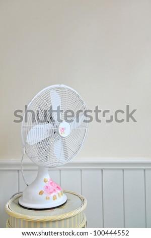 vintage electric fan - stock photo