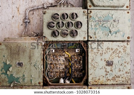 vintage switch board stock images  royalty free images Fused Junction Box Electric Meter Box