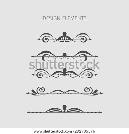 Vintage elements. - stock photo