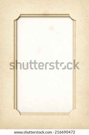 Vintage empty paper photo frame background - stock photo