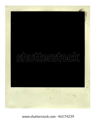 Vintage empy photo with ingerprint isolated on a white - stock photo