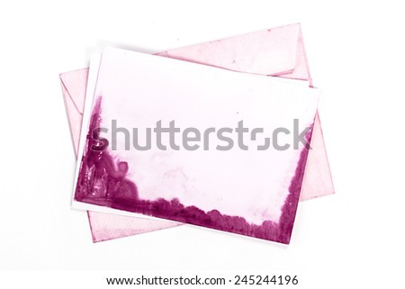 vintage envelope with pink paper page
