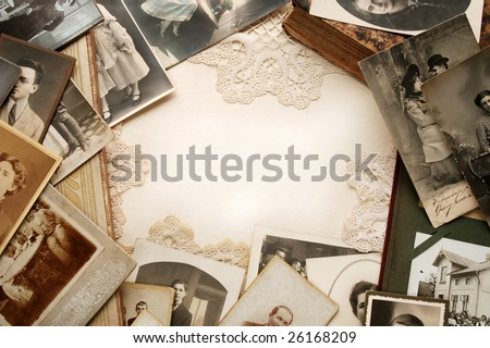 Vintage family memories - stock photo