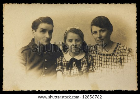 Vintage Family Portrait from 1930