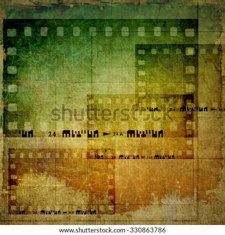 Vintage film strip frames background - stock photo