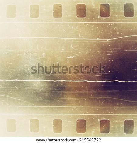 Vintage film strip texture - stock photo